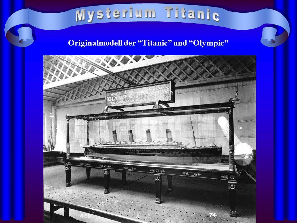 Originalmodell der Titanic und Olympic