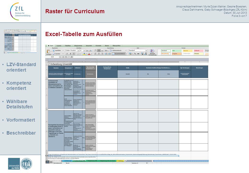 Excel-Tabelle zum Ausfüllen