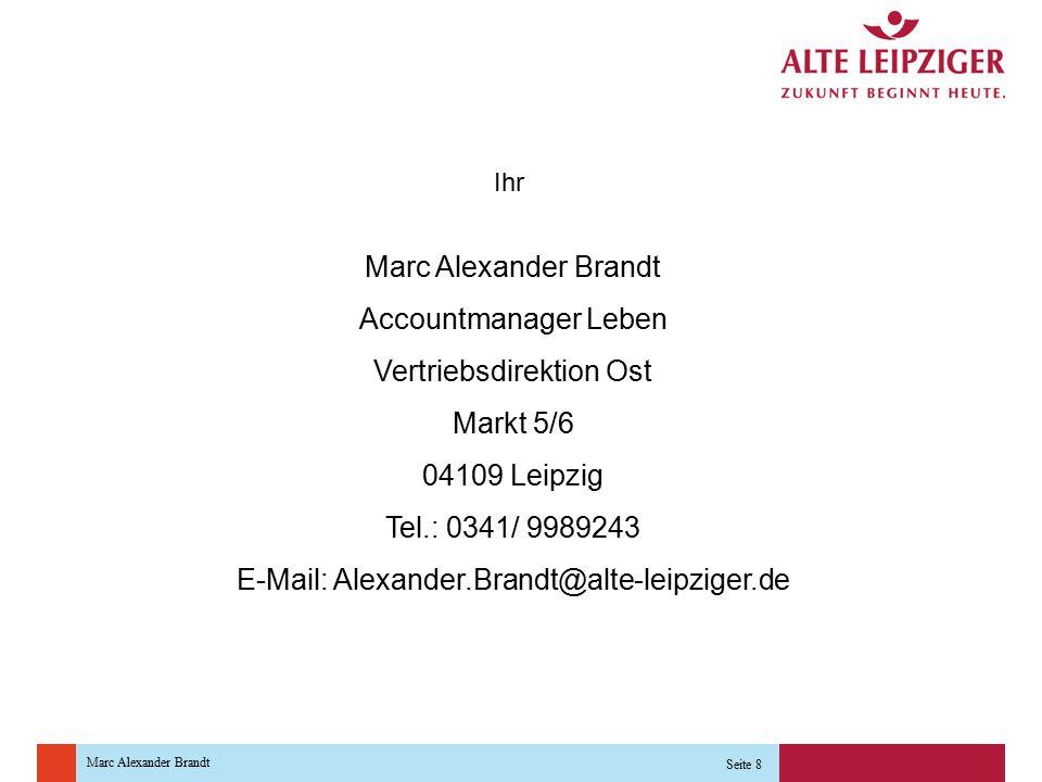 Vertriebsdirektion Ost Markt 5/6 04109 Leipzig Tel.: 0341/ 9989243