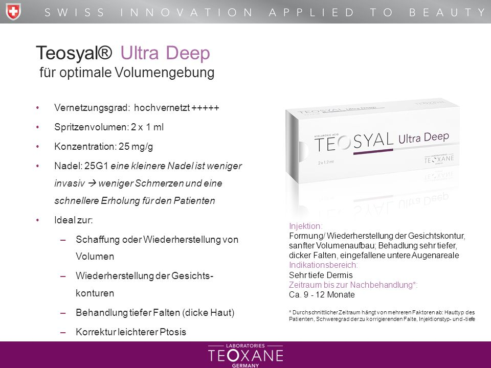 Teosyal® Ultra Deep für optimale Volumengebung
