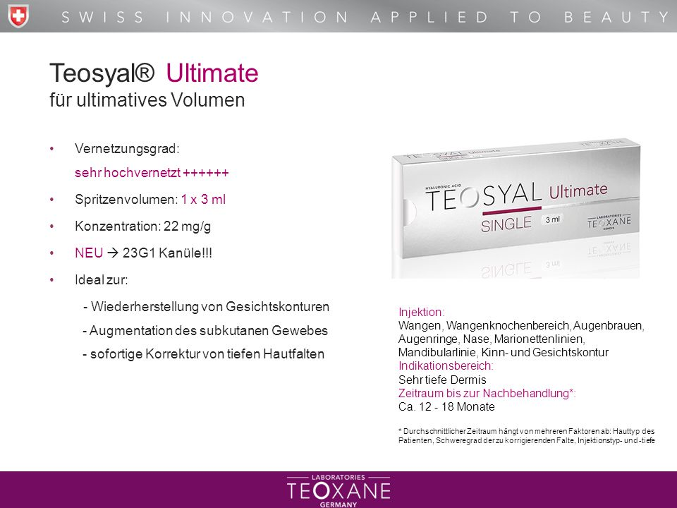 Teosyal® Ultimate für ultimatives Volumen