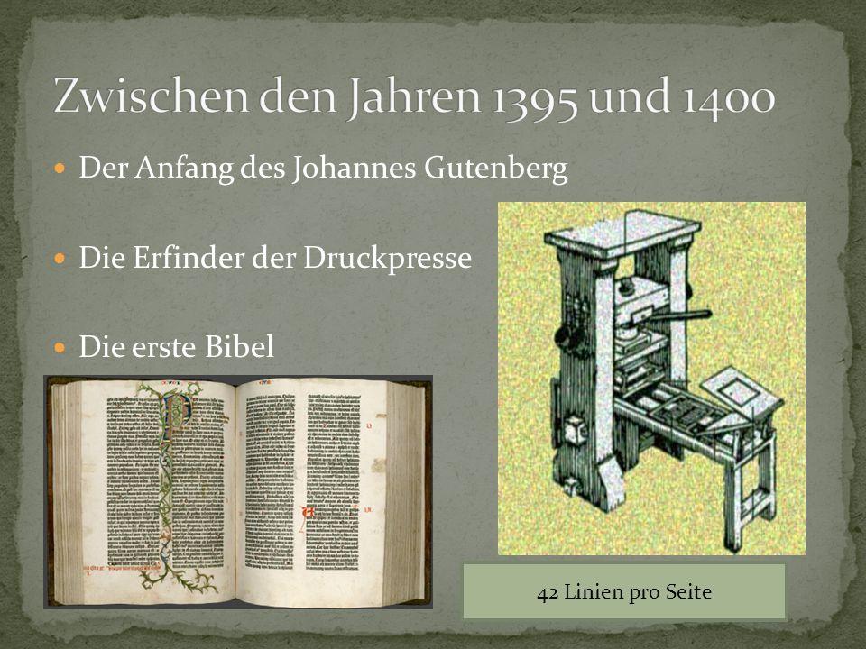 Zwischen den Jahren 1395 und 1400