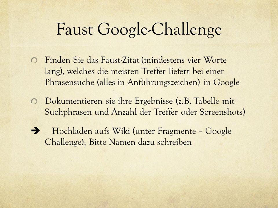 Faust Google-Challenge