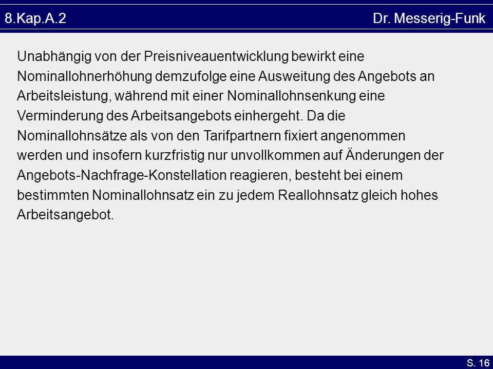 8.Kap.A.2 Dr. Messerig-Funk Unabhängig von der Preisniveauentwicklung bewirkt eine.