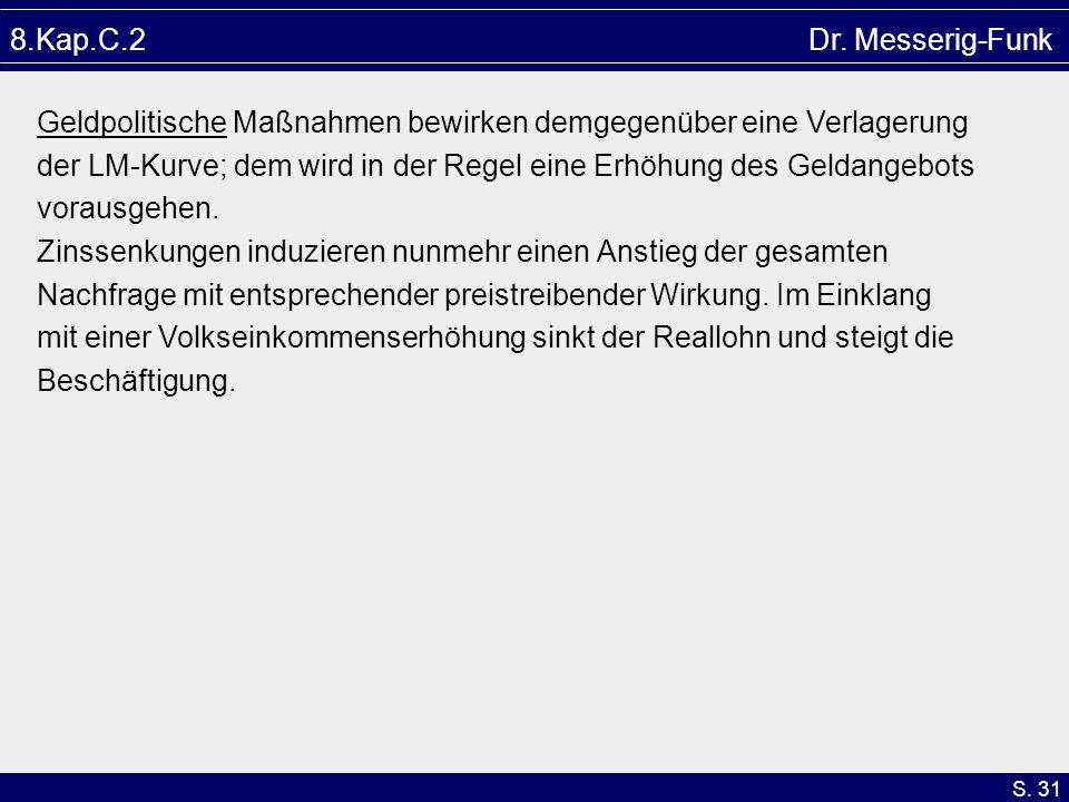 8.Kap.C.2 Dr. Messerig-Funk Geldpolitische Maßnahmen bewirken demgegenüber eine Verlagerung.