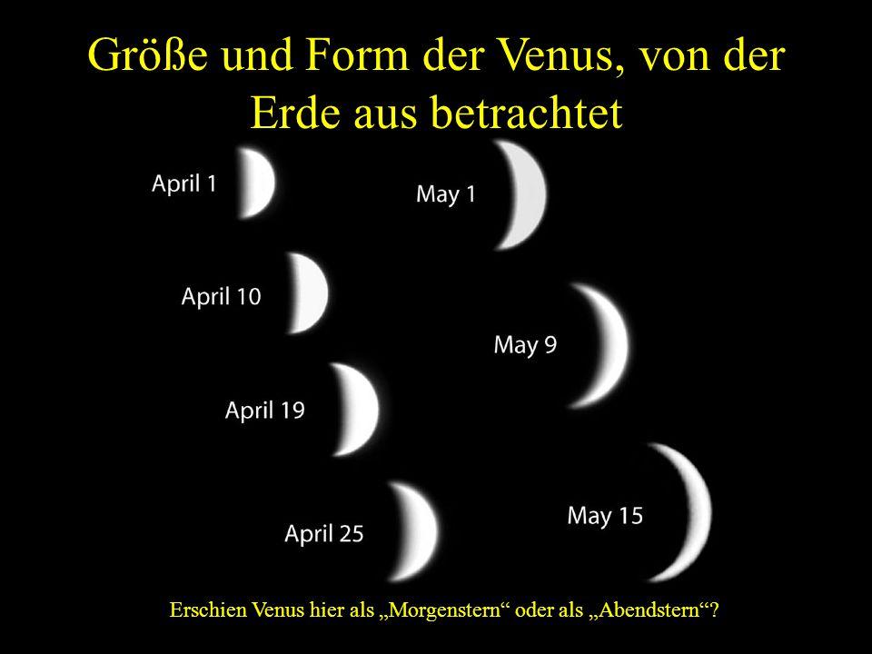Größe und Form der Venus, von der Erde aus betrachtet