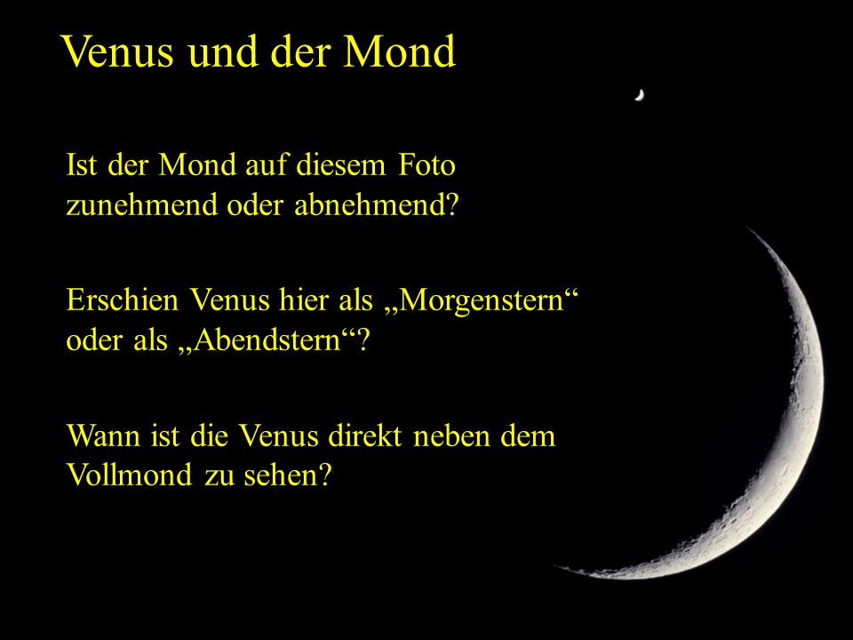 Venus und der Mond