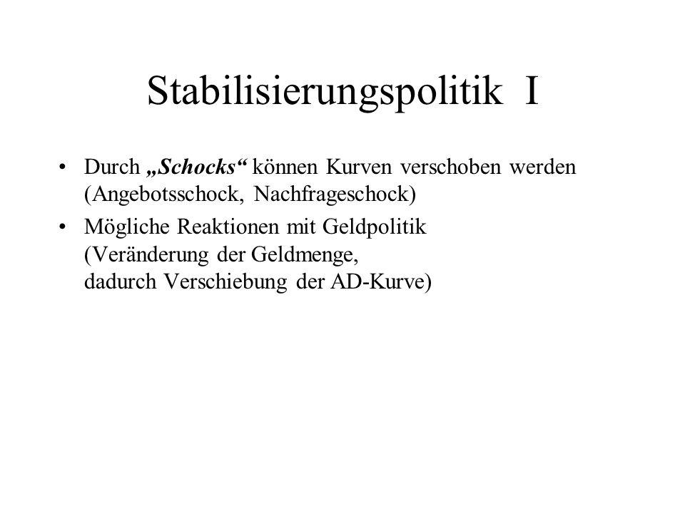 Stabilisierungspolitik I