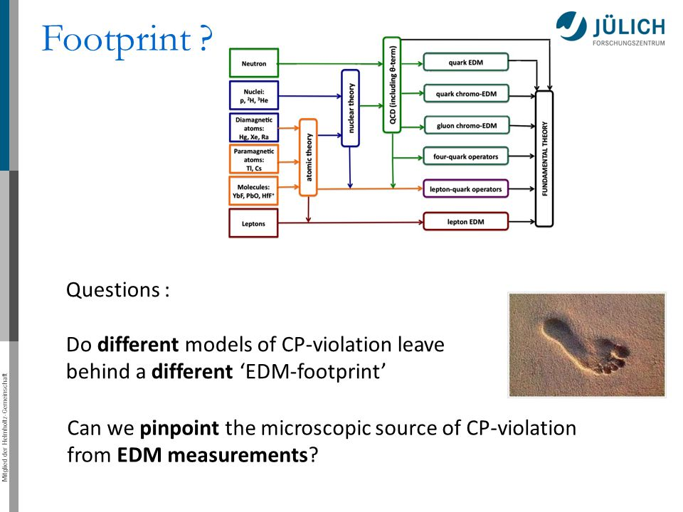 Footprint Questions : Do different models of CP-violation leave behind a different 'EDM-footprint'