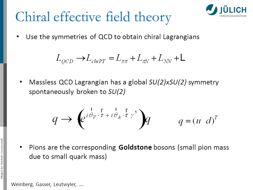 Chiral effective field theory