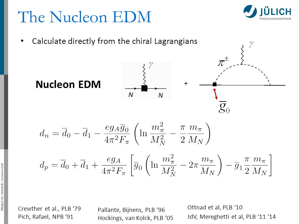 The Nucleon EDM Nucleon EDM