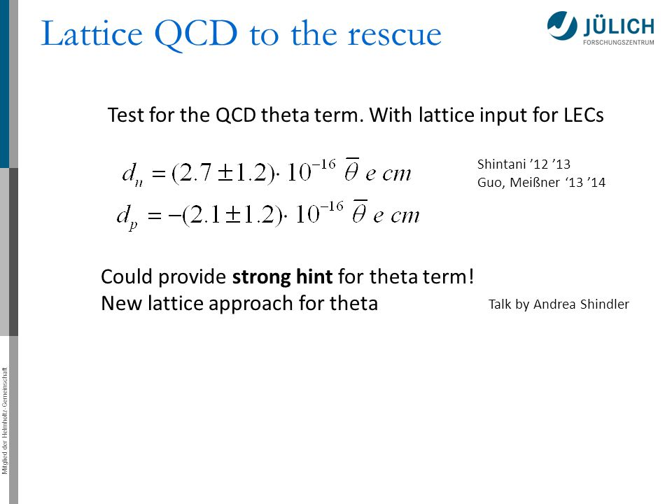 Lattice QCD to the rescue