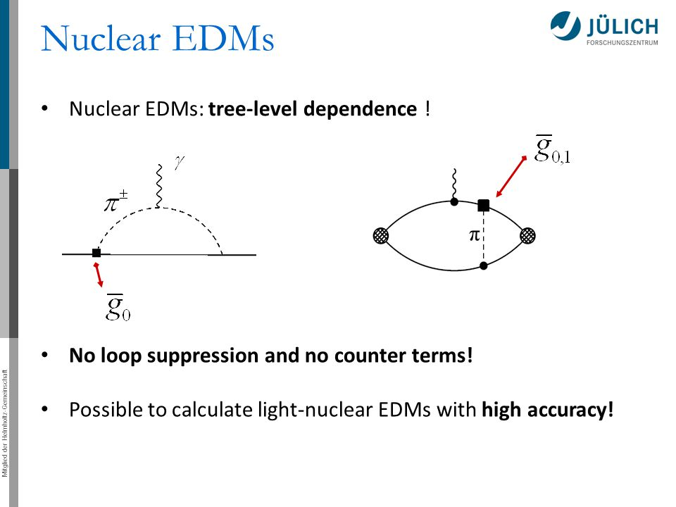 Nuclear EDMs Nuclear EDMs: tree-level dependence !