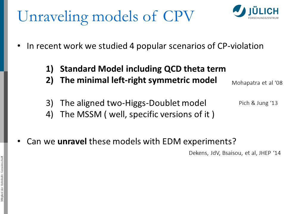 Unraveling models of CPV