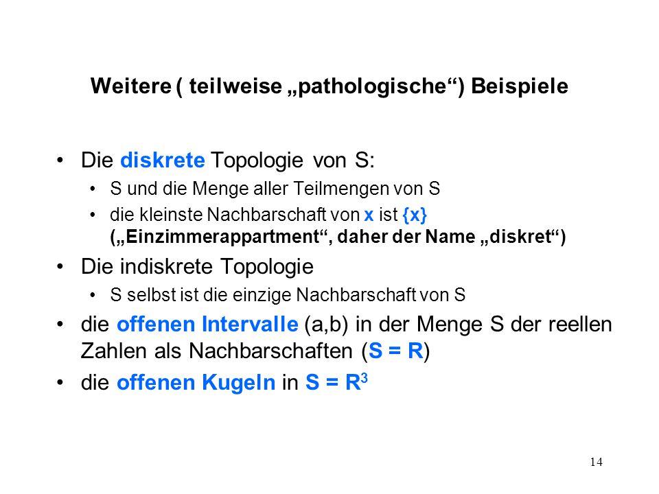 """Weitere ( teilweise """"pathologische ) Beispiele"""
