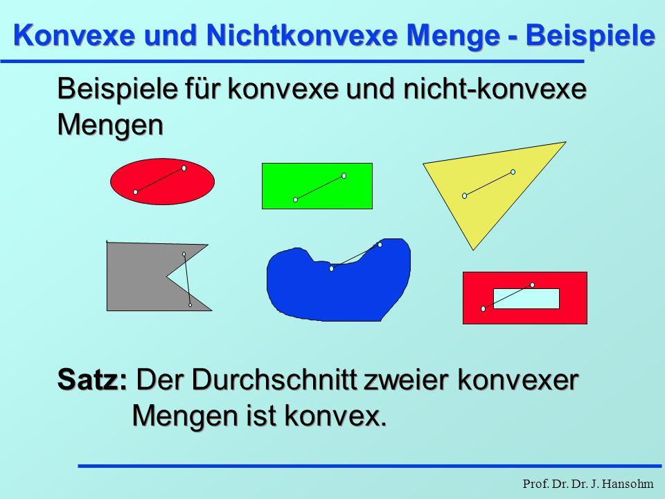 Konvexe und Nichtkonvexe Menge - Beispiele