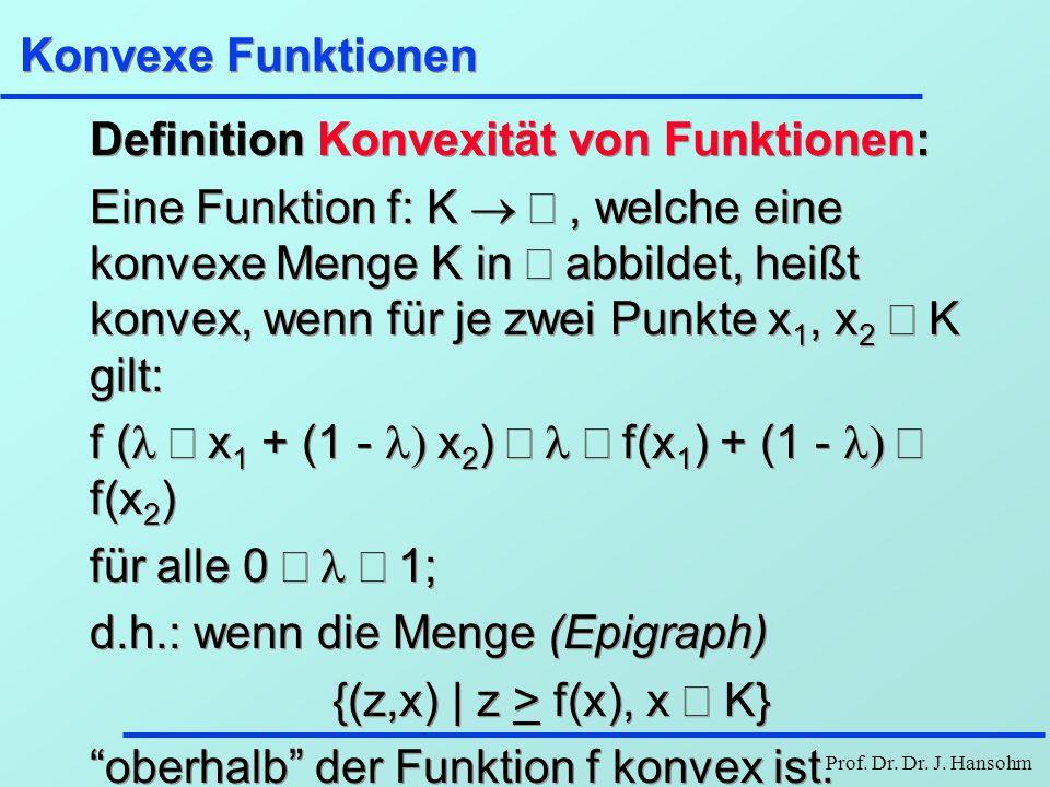 Konvexe Funktionen Definition Konvexität von Funktionen: