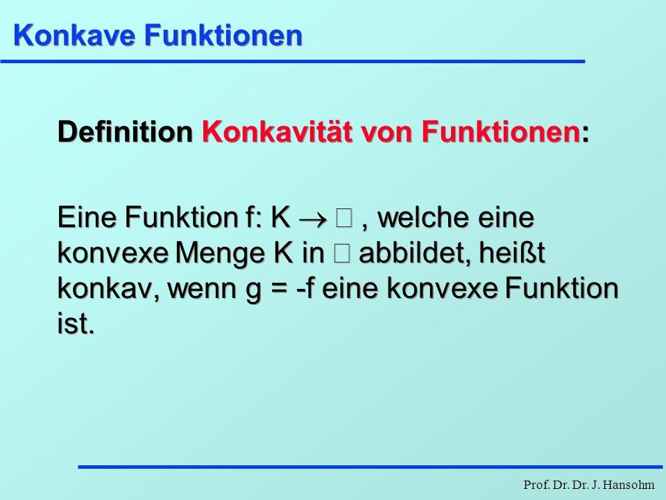 Konkave Funktionen Definition Konkavität von Funktionen: