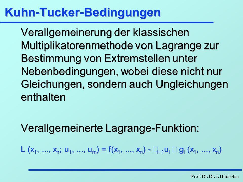 Kuhn-Tucker-Bedingungen