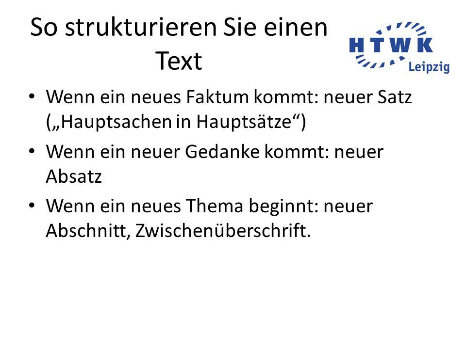 So strukturieren Sie einen Text
