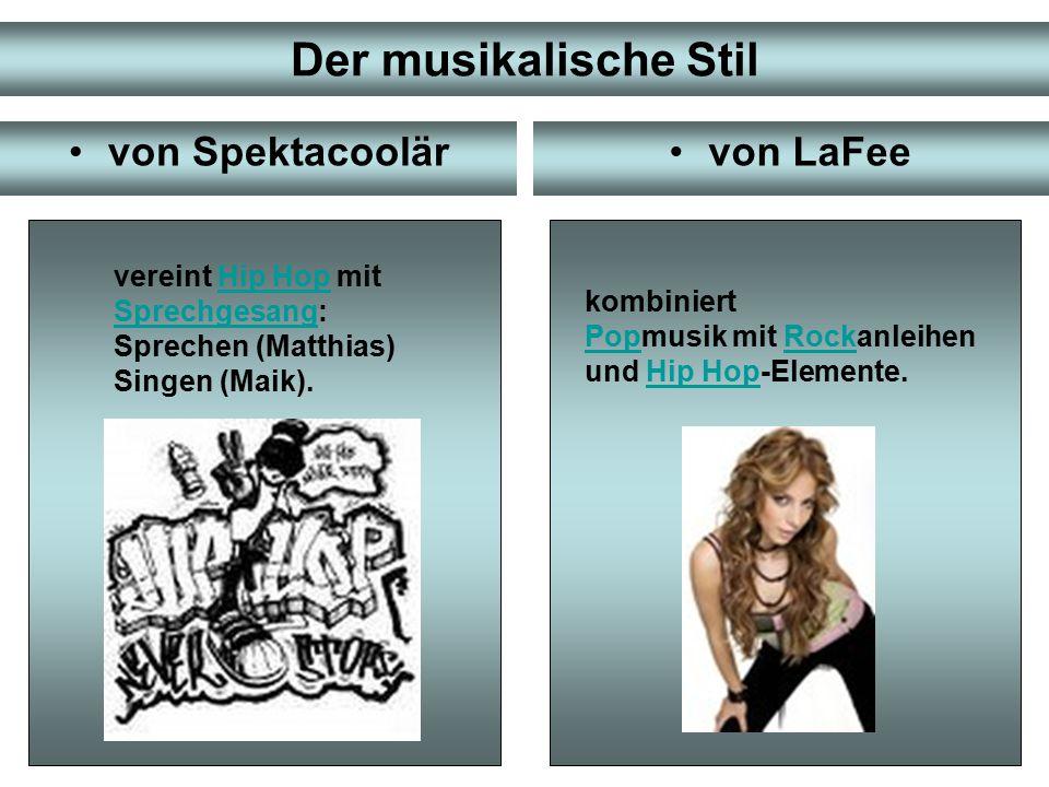 Der musikalische Stil von Spektacoolär von LaFee