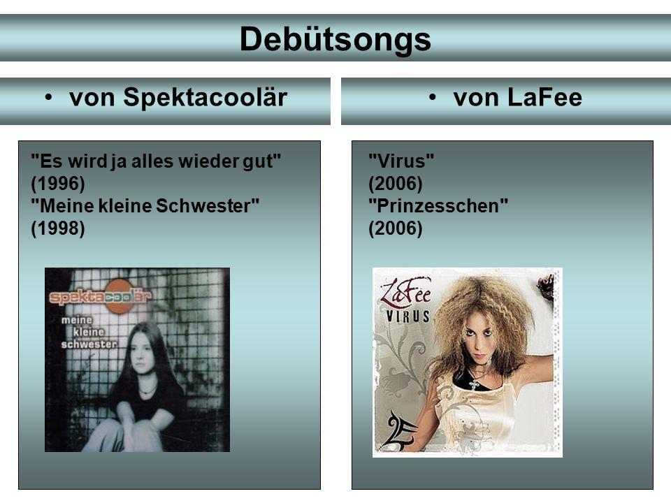 Debütsongs von Spektacoolär von LaFee