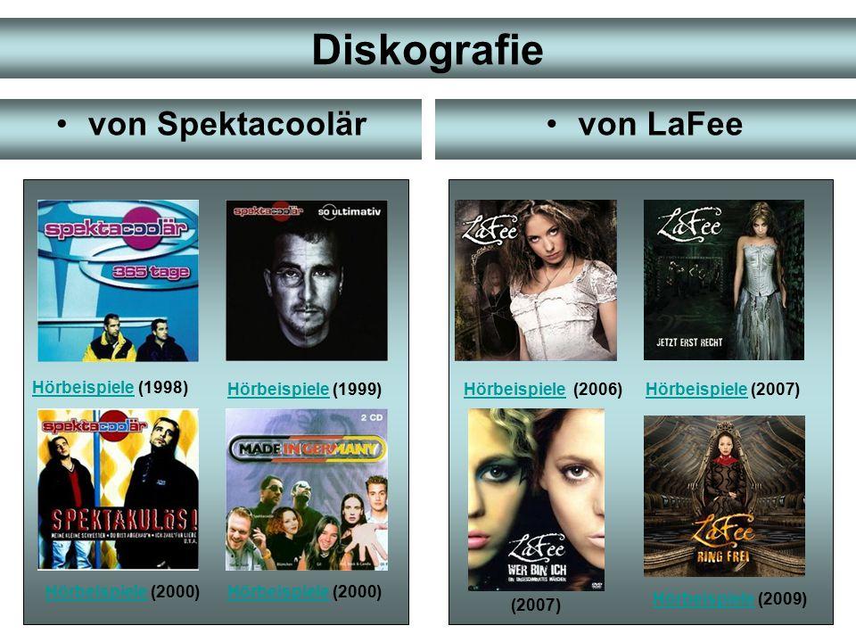Diskografie von Spektacoolär von LaFee Hörbeispiele (1998)