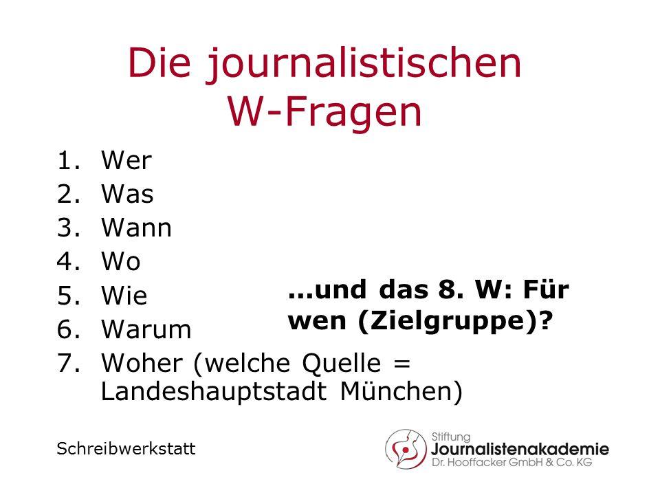 Die journalistischen W-Fragen