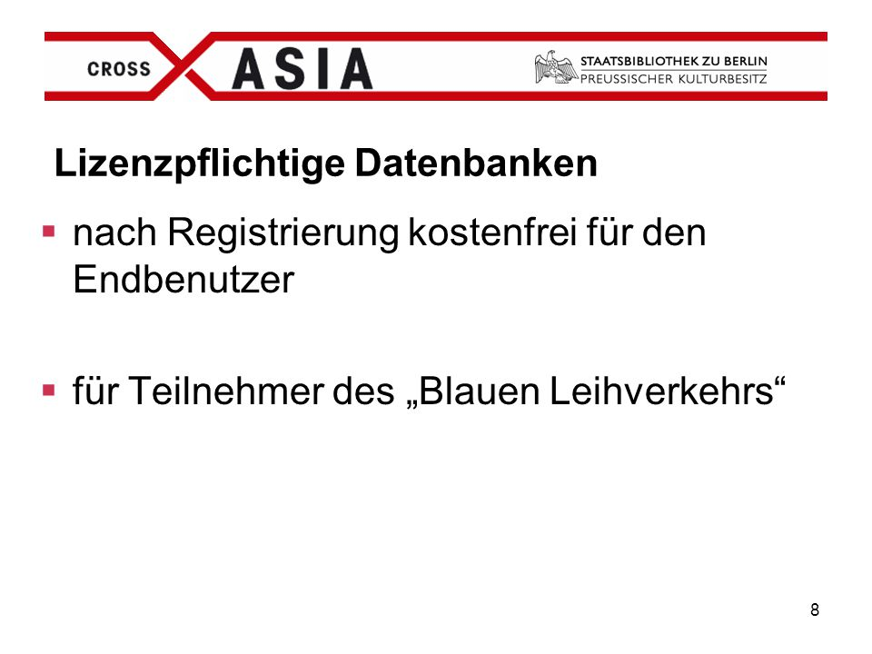 Lizenzpflichtige Datenbanken