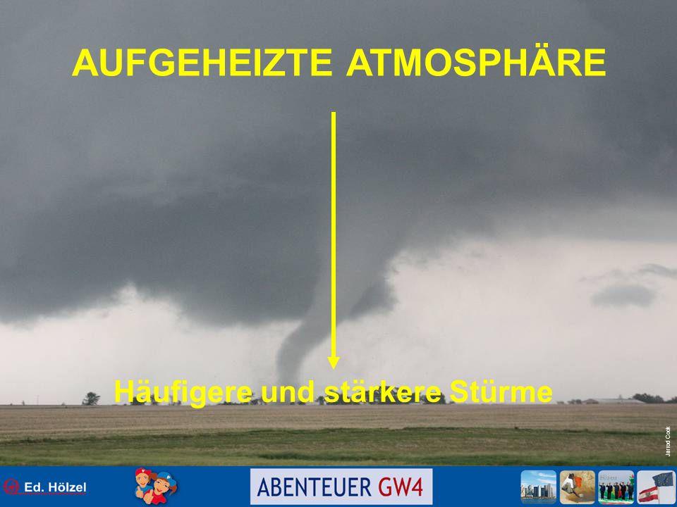 AUFGEHEIZTE ATMOSPHÄRE Häufigere und stärkere Stürme
