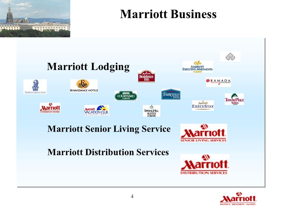 Marriott Business Marriott Lodging Marriott Senior Living Service