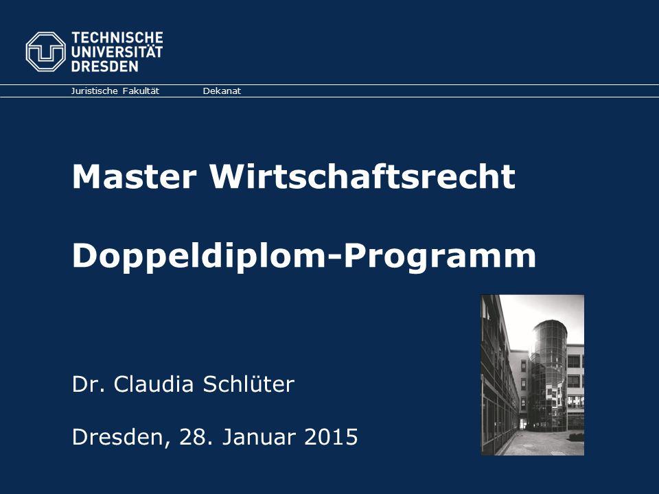 Master Wirtschaftsrecht Doppeldiplom-Programm