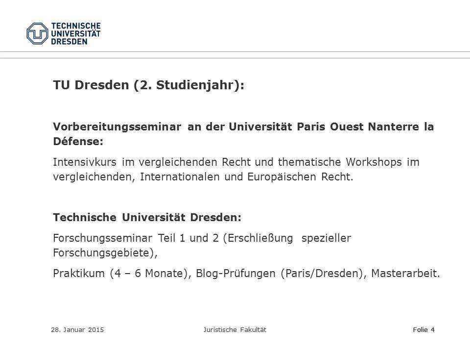 TU Dresden (2. Studienjahr):