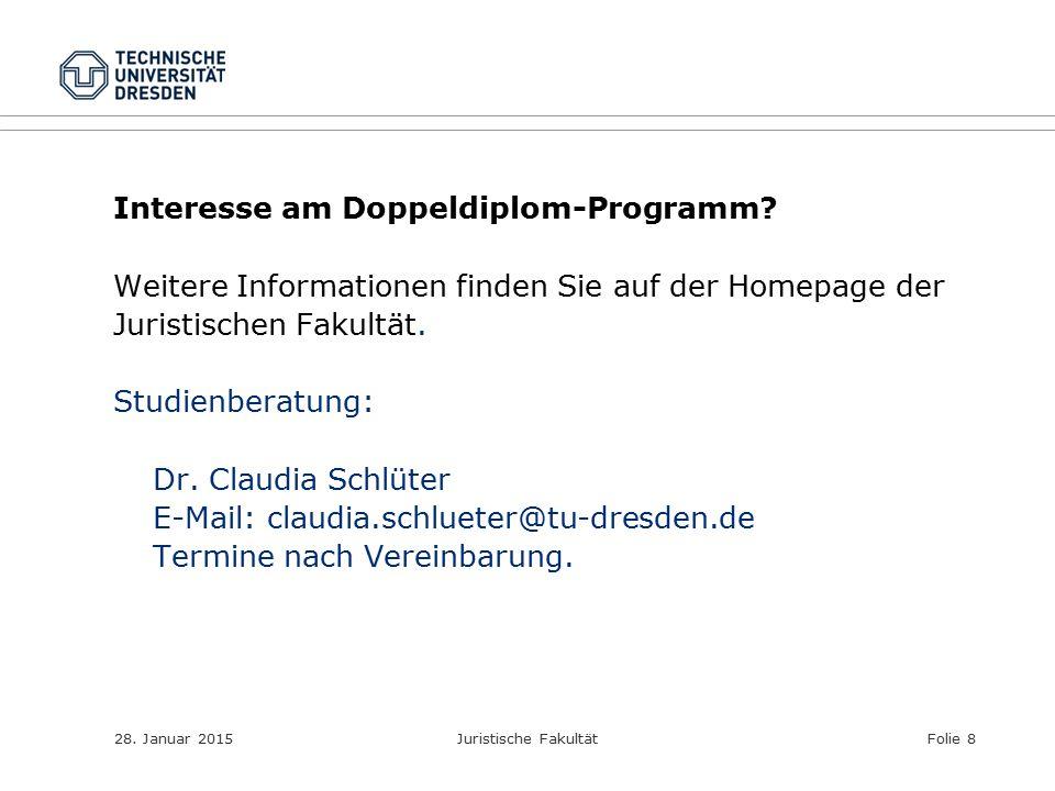 Interesse am Doppeldiplom-Programm
