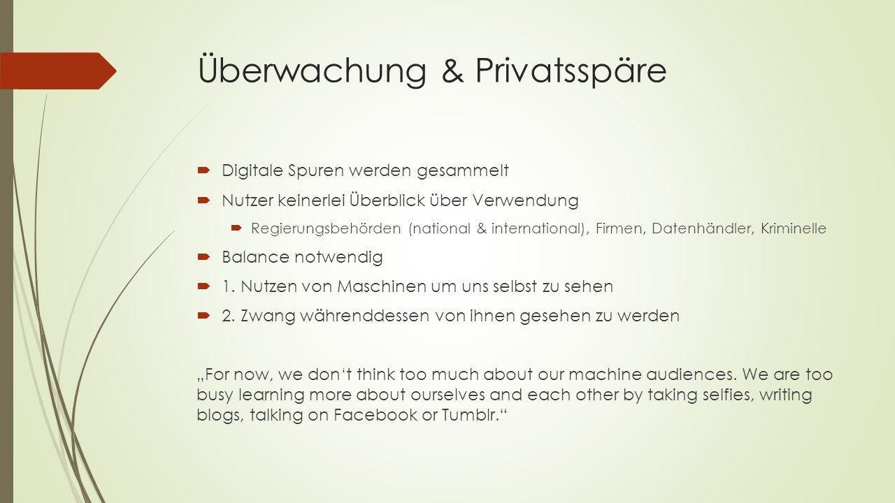 Überwachung & Privatsspäre