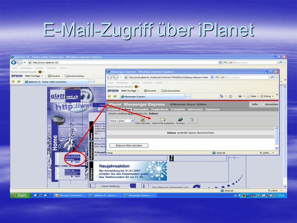 E-Mail-Zugriff über iPlanet