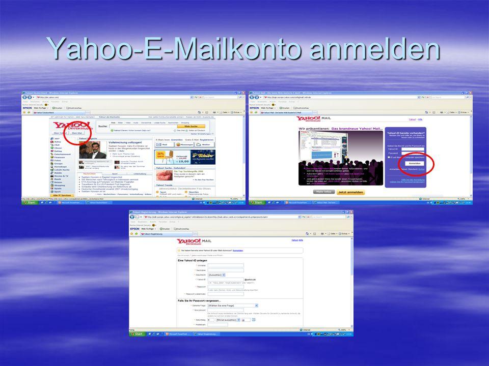 Yahoo-E-Mailkonto anmelden