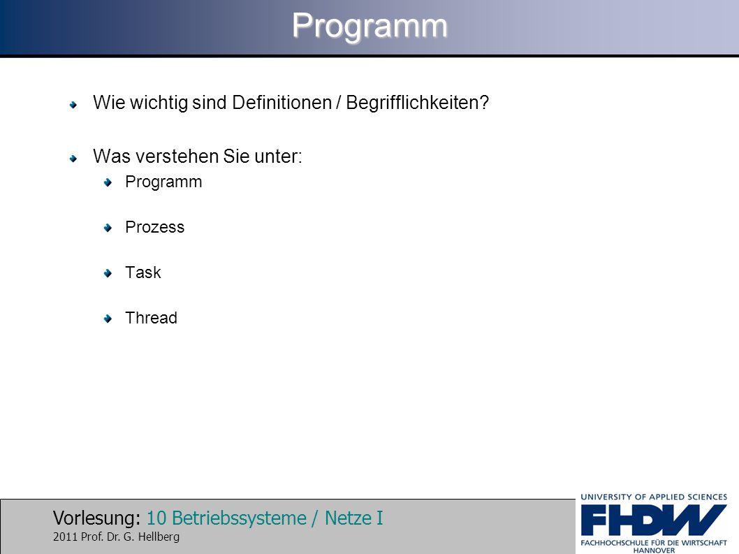 Programm Wie wichtig sind Definitionen / Begrifflichkeiten