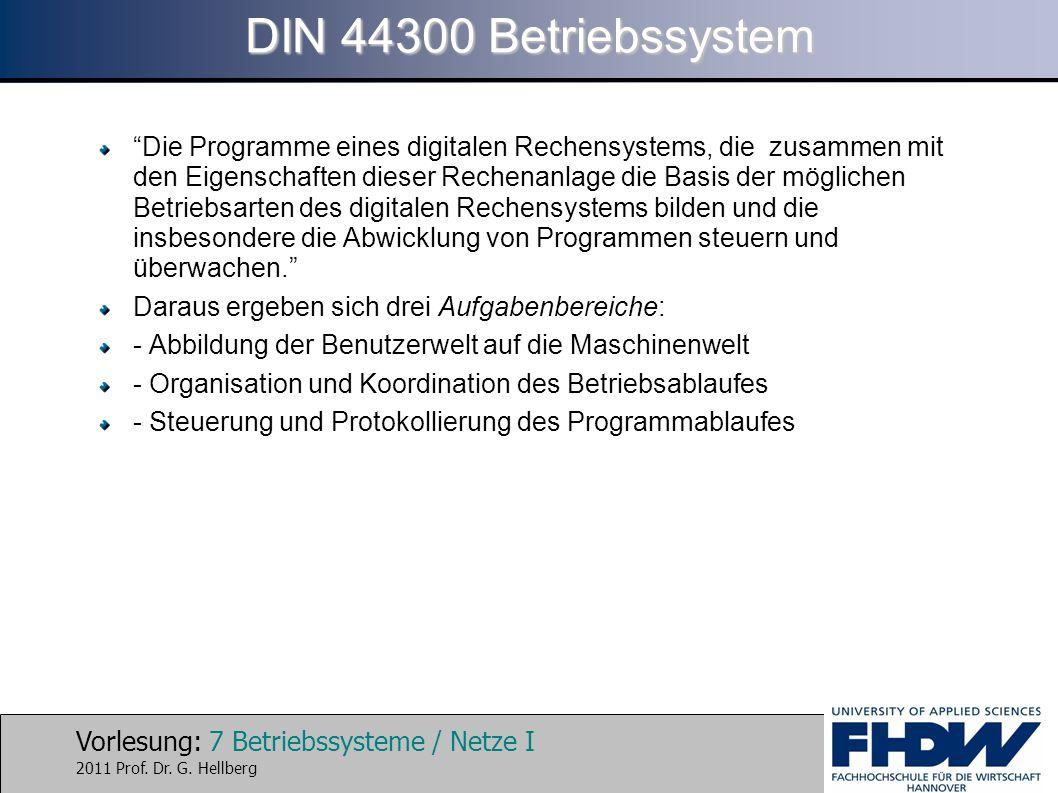 DIN 44300 Betriebssystem