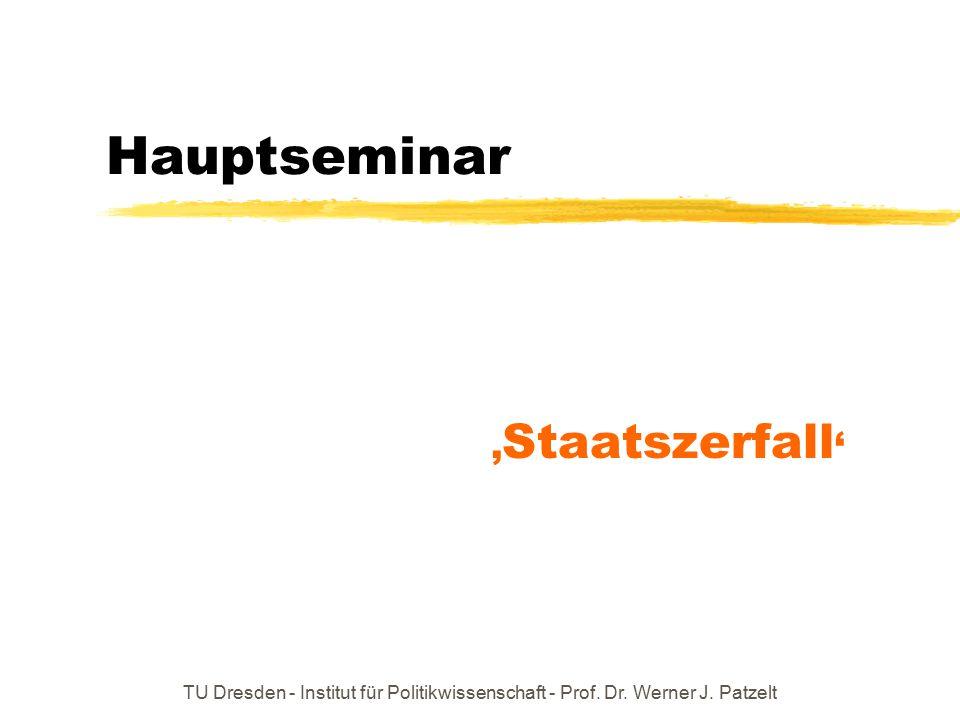 Hauptseminar 'Staatszerfall'