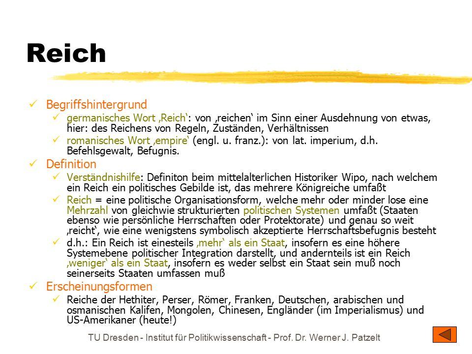 Reich Begriffshintergrund Definition Erscheinungsformen