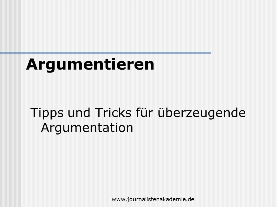 Argumentieren Tipps und Tricks für überzeugende Argumentation
