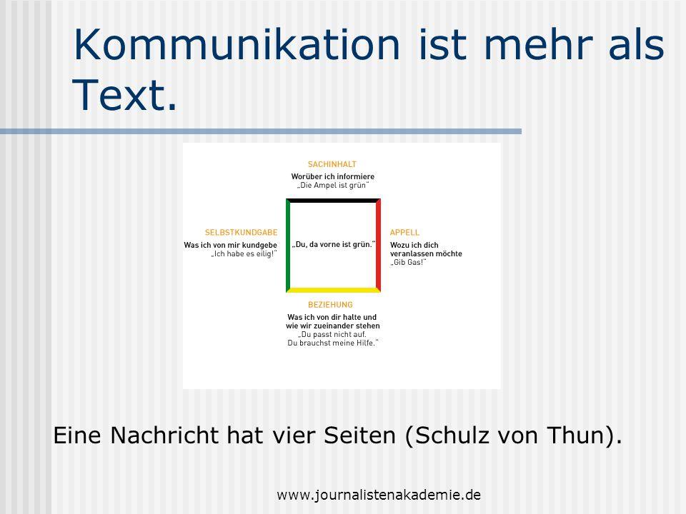 Kommunikation ist mehr als Text.