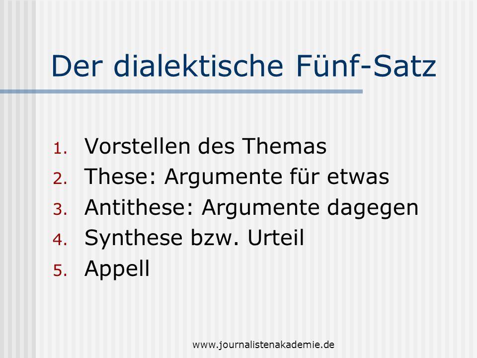 Der dialektische Fünf-Satz