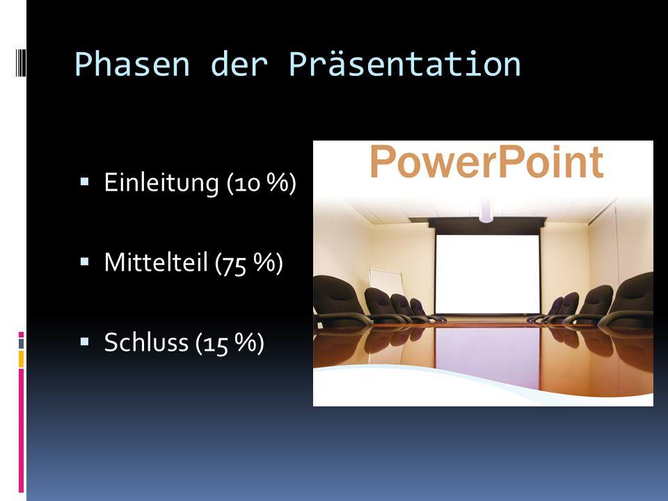 Phasen der Präsentation