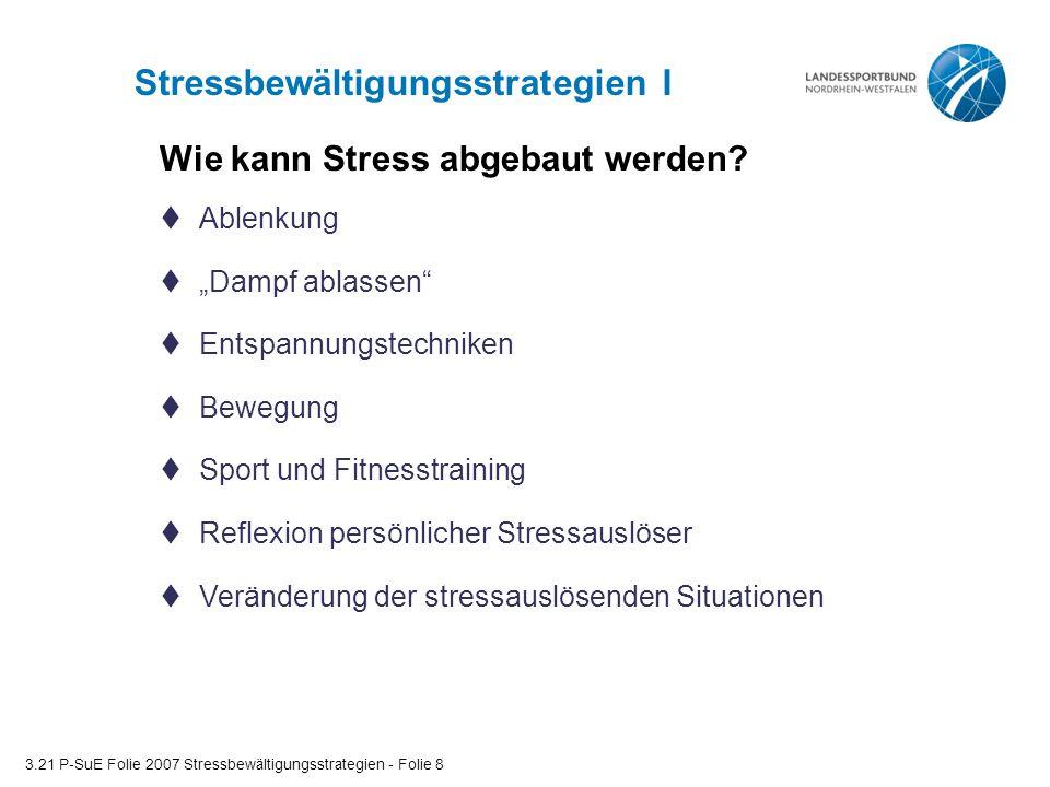 Stressbewältigungsstrategien I