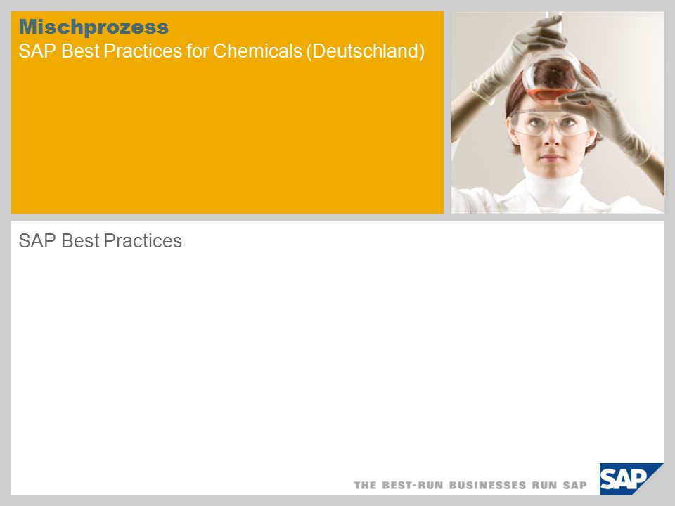 Mischprozess SAP Best Practices for Chemicals (Deutschland)