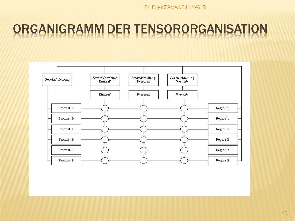 Organigramm der Tensororganisation