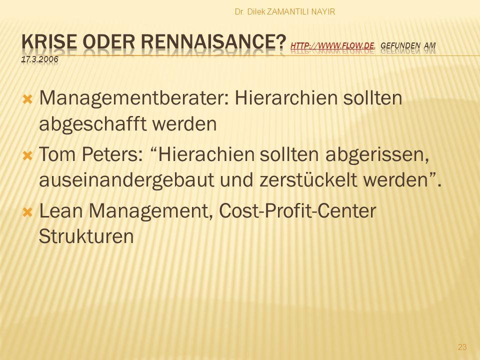 Krise oder Rennaisance http://www.flow.de. Gefunden am 17.3.2006