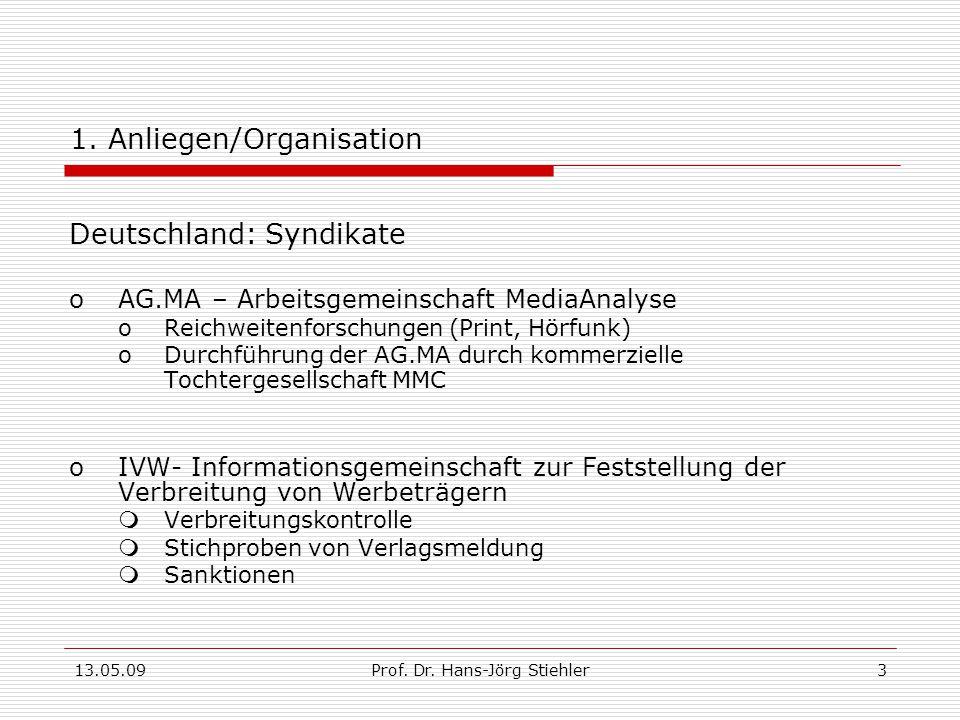1. Anliegen/Organisation
